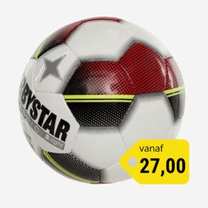 Afbeelding Derbystar Classic superlight voetbal wit/rood